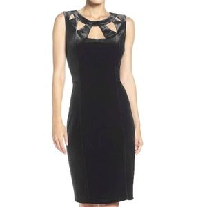 Eliza J Velvet Cutout Bodycon Sheath Dress NWT